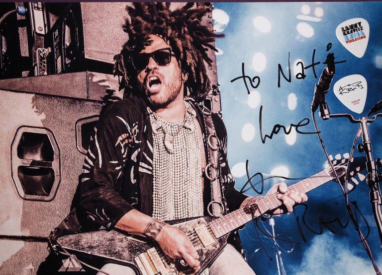 podpis od legendy Lennyho Kravitza z Bratislavy